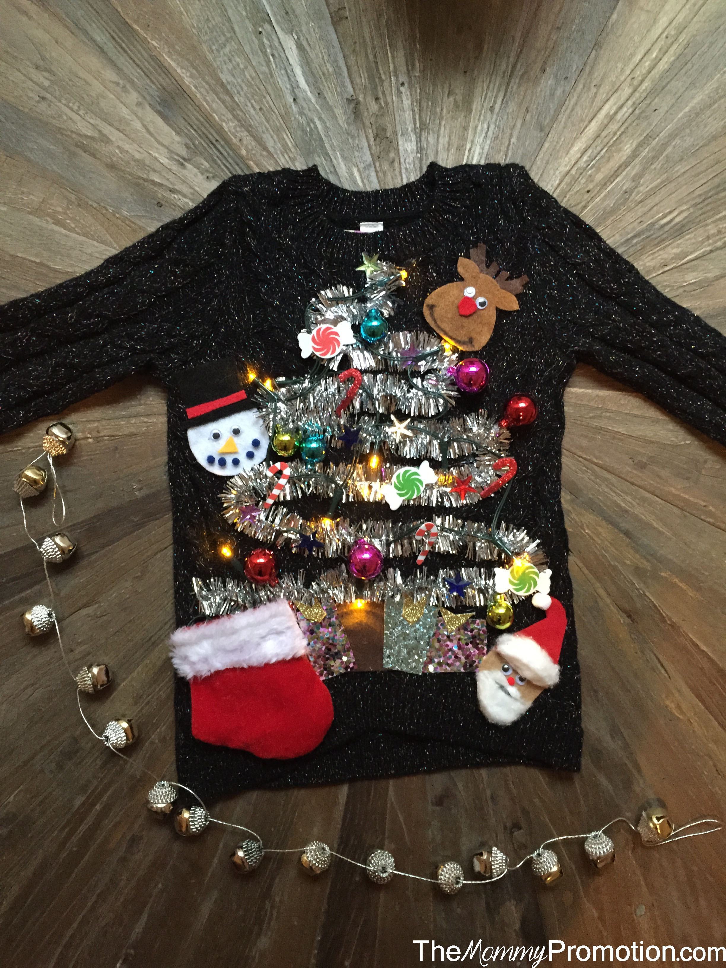 Best ideas about DIY Tacky Christmas Sweaters . Save or Pin DIY Ugly Cute Christmas Sweater – for Kids – The Mommy Now.