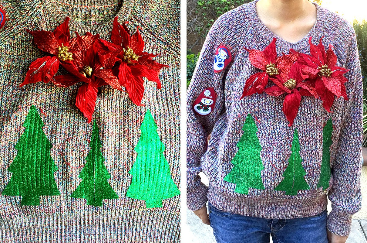 Best ideas about DIY Tacky Christmas Sweaters . Save or Pin The Cheese Thief Ugly Christmas Sweater DIY Now.