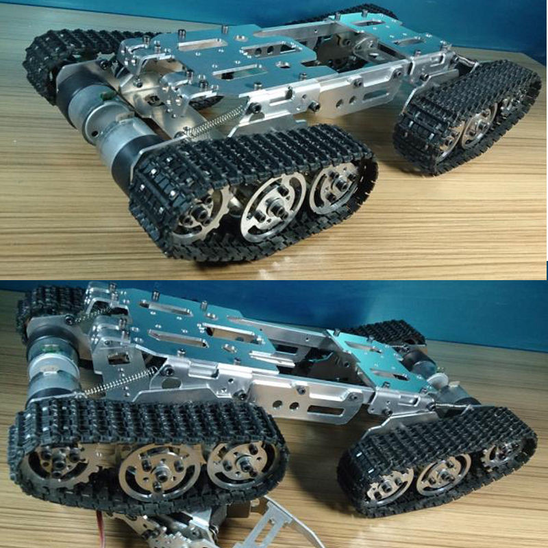 Best ideas about DIY Tank Tracks . Save or Pin Metal ATV Track Robot Tank Chassis suspension obstacle Now.