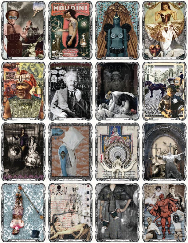 Best ideas about DIY Tarot Cards . Save or Pin Steampunk Tarot Deck DIY Instant DOWNLOAD Now.