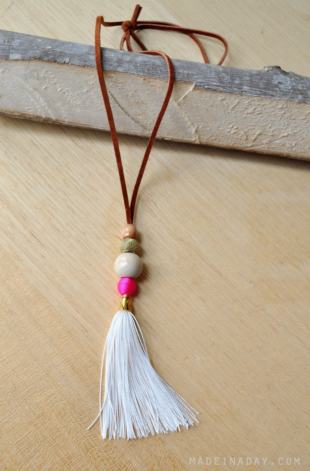 Best ideas about DIY Tassel Necklaces . Save or Pin Suede Tassel Necklace Now.
