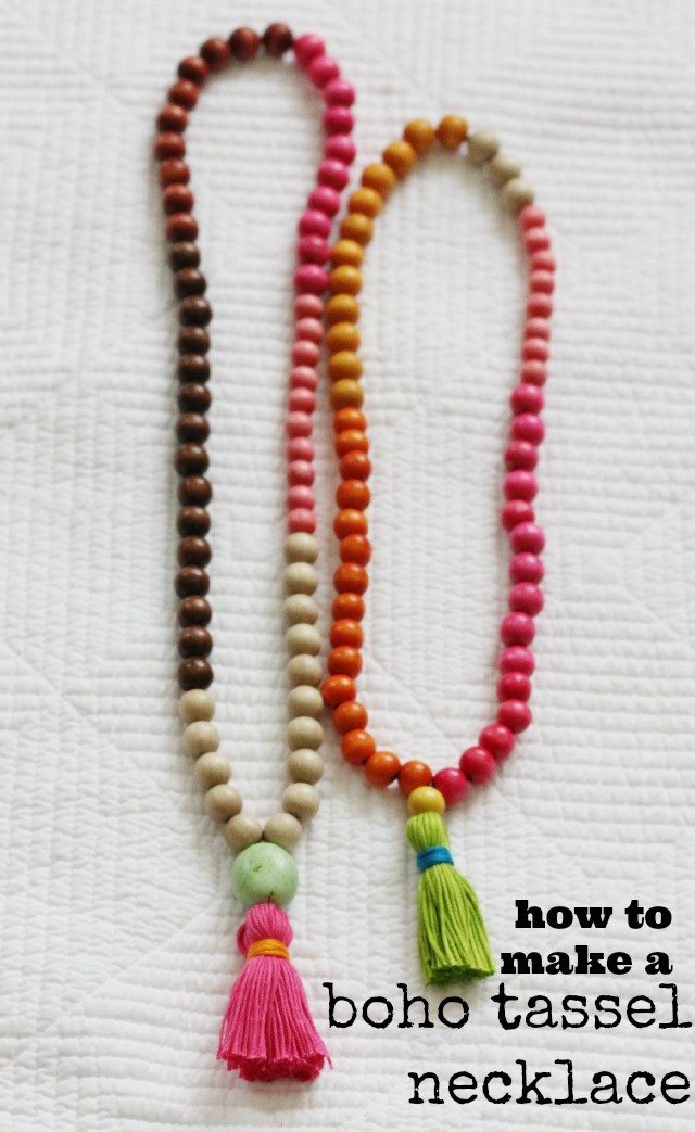 Best ideas about DIY Tassel Necklaces . Save or Pin DIY Try How to make a Tassel Necklace ⋆ chic everywhere Now.