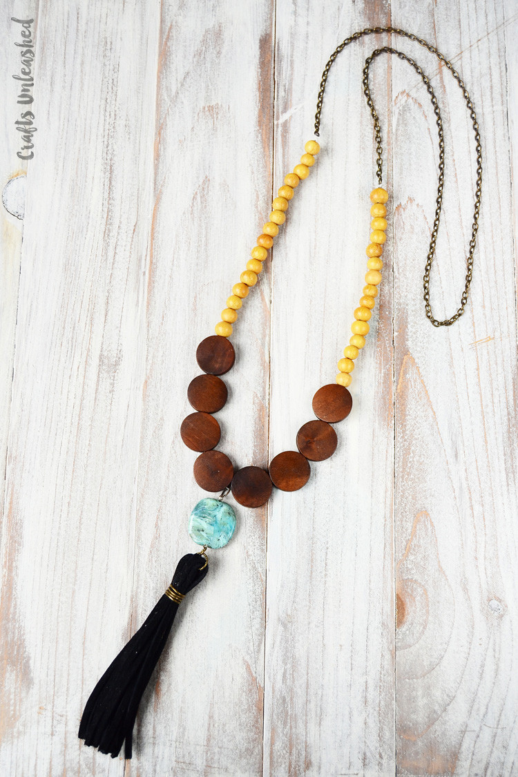 Best ideas about DIY Tassel Necklaces . Save or Pin DIY Tassel Necklace with Wood Beads Consumer Crafts Now.