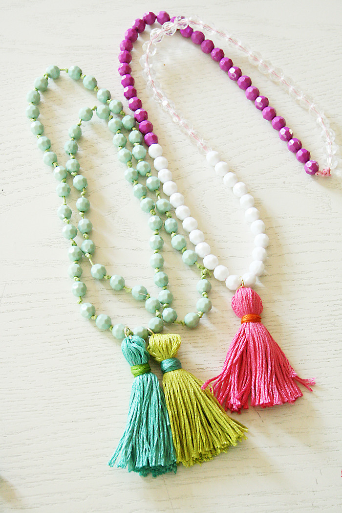 Best ideas about DIY Tassel Necklaces . Save or Pin Back to School Crafts DIY Tassel Necklaces Darling Now.