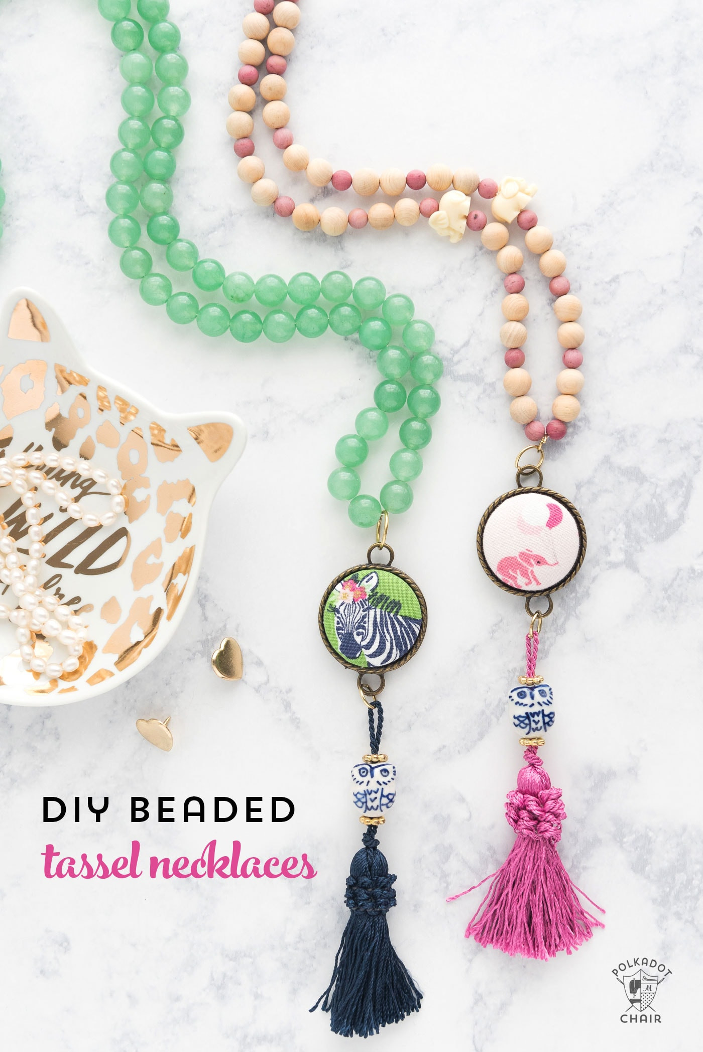 Best ideas about DIY Tassel Necklaces . Save or Pin DIY Beaded Tassel Necklace Tutorial The Polka Dot Chair Now.