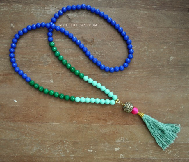 Best ideas about DIY Tassel Necklaces . Save or Pin DIY Beaded Tassel Necklaces Now.