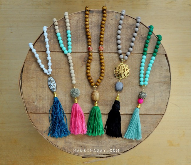 Best ideas about DIY Tassel Necklaces . Save or Pin DIY Rope Tassel Necklace Now.