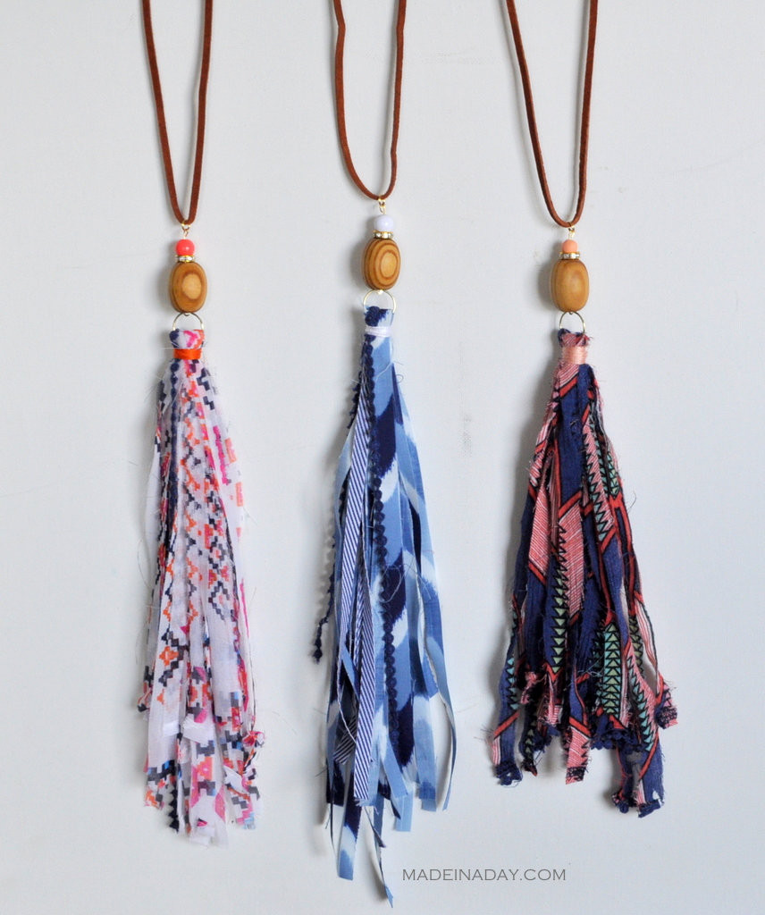 Best ideas about DIY Tassel Necklaces . Save or Pin How to make Fabric Tassel Necklaces Now.