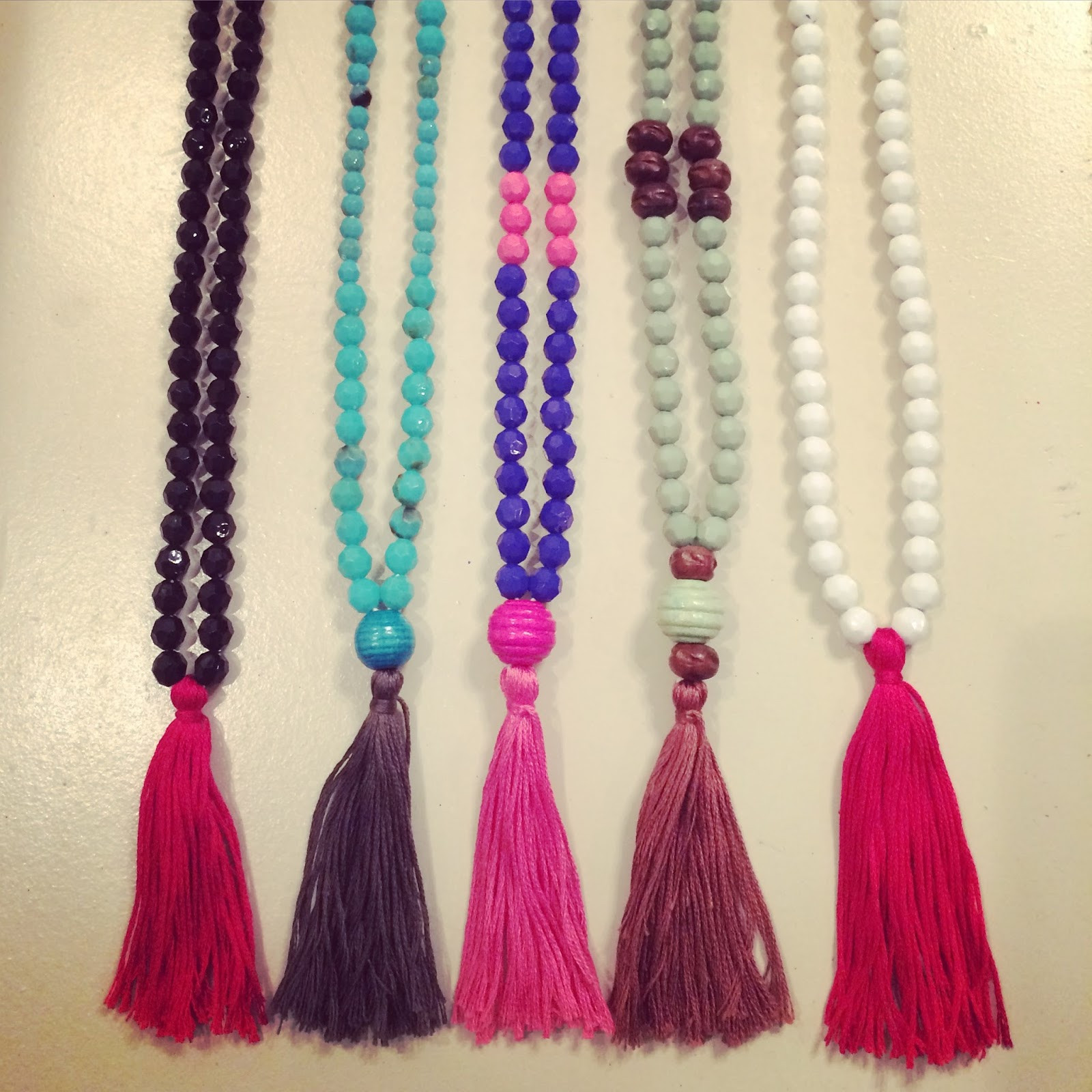 Best ideas about DIY Tassel Necklaces . Save or Pin Magnolia Mamas DIY Tassel Necklaces tutorial Now.