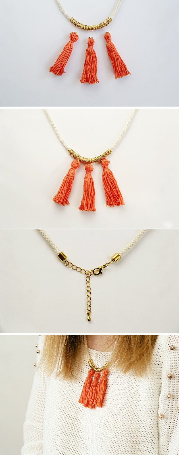 Best ideas about DIY Tassel Necklaces . Save or Pin DIY Ring and Tassel Necklace Now.