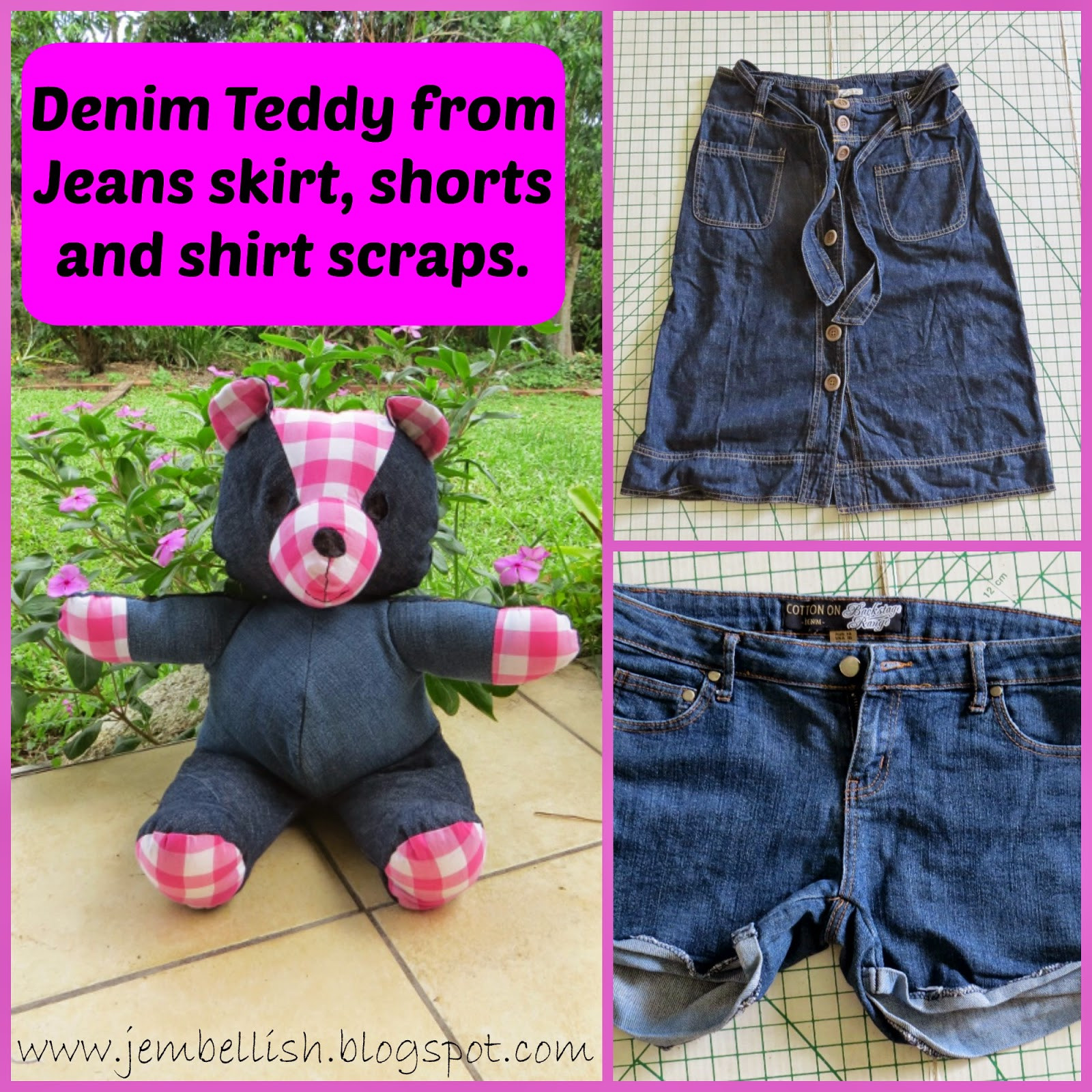 Best ideas about DIY Teddy Bear . Save or Pin DIY Denim Teddy Bears Using Old Jeans Now.