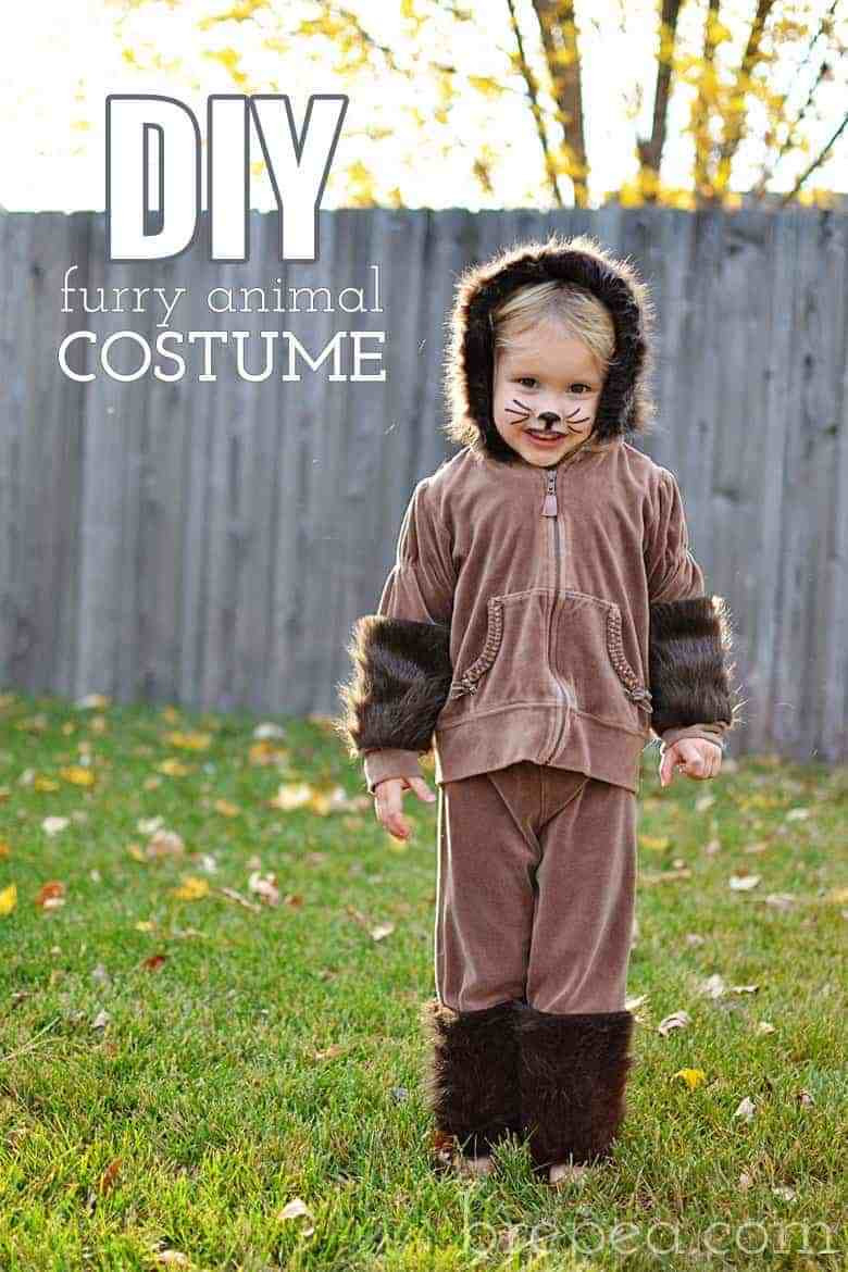 """Best ideas about DIY Teddy Bear Costume . Save or Pin DIY Frugal Furry """"Animal"""" Halloween Costume for Kids Now."""