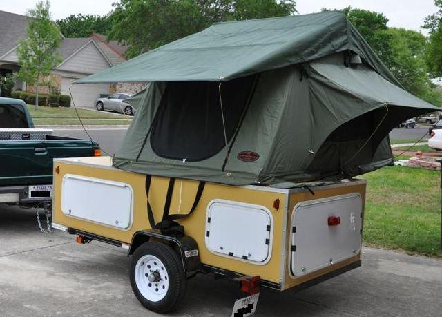 Best ideas about DIY Tent Trailer . Save or Pin diy tent on a trailer pact Camping Concepts Now.