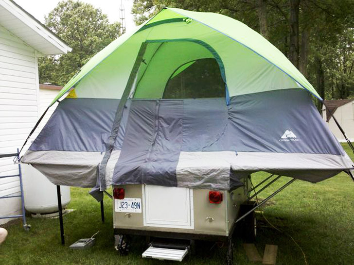 Best ideas about DIY Tent Trailer . Save or Pin DIY Tent Camper That Can Fit Any Bud Now.