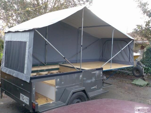 Best ideas about DIY Tent Trailer . Save or Pin Homemade Tent Trailer dirks diy camper trailer Now.