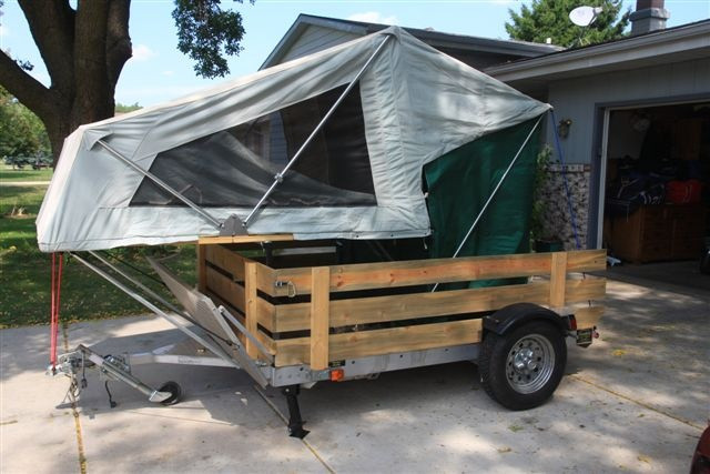 Best ideas about DIY Tent Trailer . Save or Pin MOAB setup on motorcycle hauling trailer Now.
