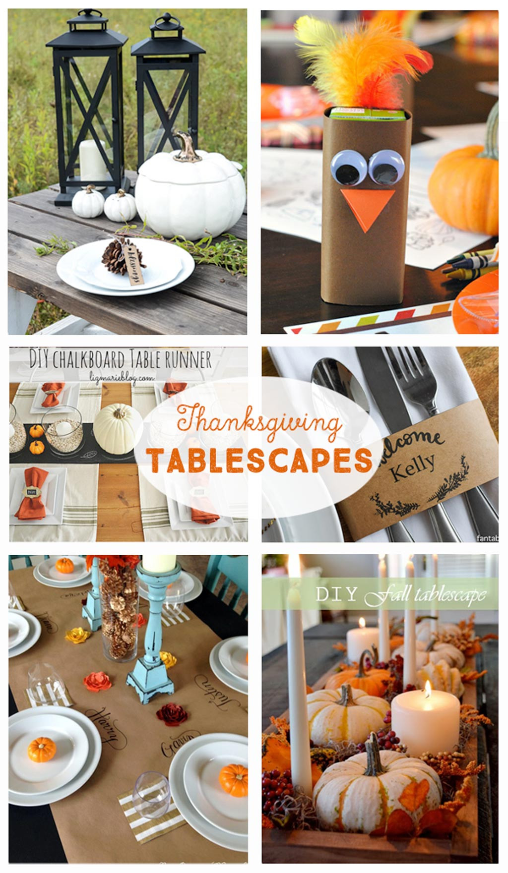 Best ideas about DIY Thanksgiving Table Decorations . Save or Pin DIY Thanksgiving Tablescapes The Crafting Chicks Now.