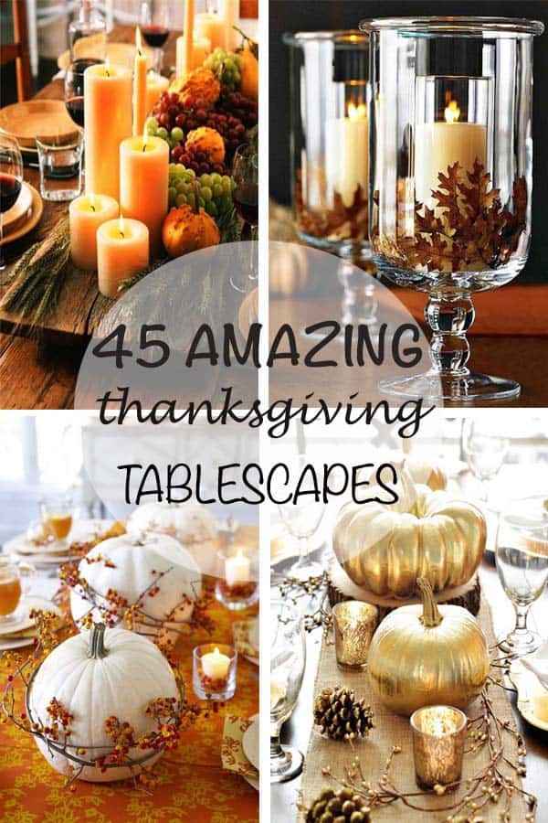 Best ideas about DIY Thanksgiving Table Decorations . Save or Pin 47 Fabulous DIY ideas for Thanksgiving table decor Now.