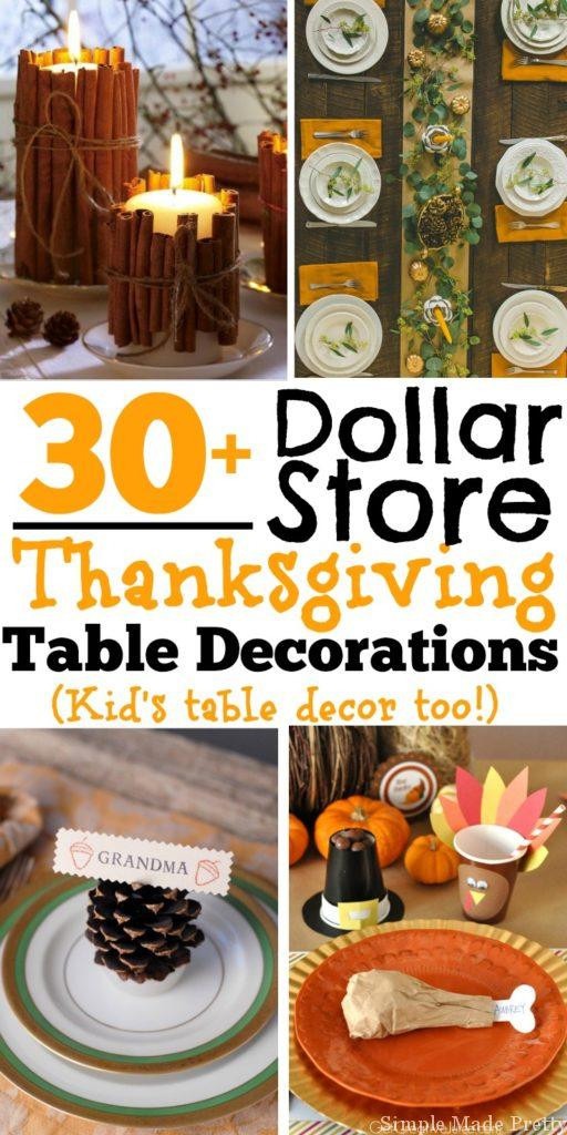 Best ideas about DIY Thanksgiving Table Decorations . Save or Pin 30 DIY and Dollar Store Thanksgiving Table Decorations Now.