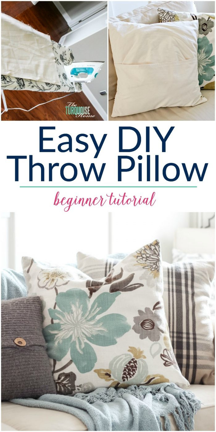 Best ideas about DIY Throw Pillows . Save or Pin Easy DIY Throw Pillow Part 6 Living Room Makeover Now.