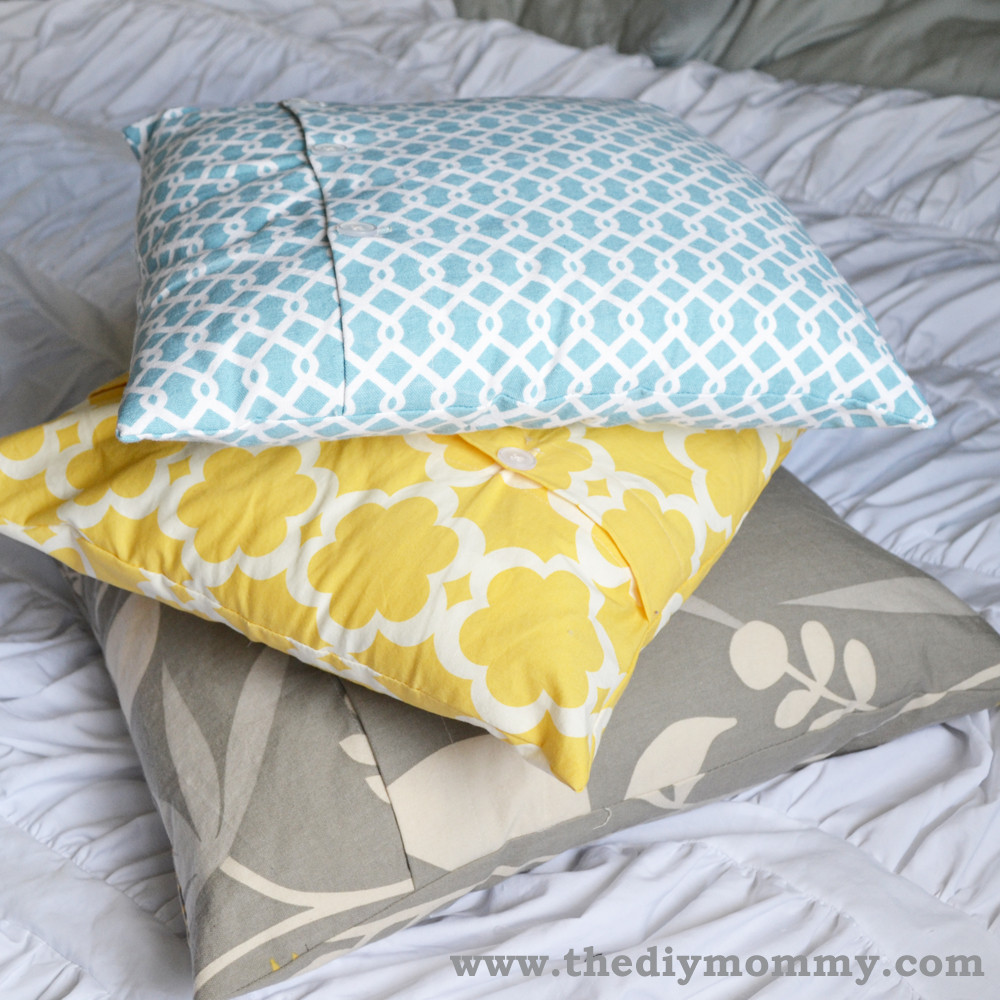 Best ideas about DIY Throw Pillows . Save or Pin Sew a Buttoned Pillow Cover Now.