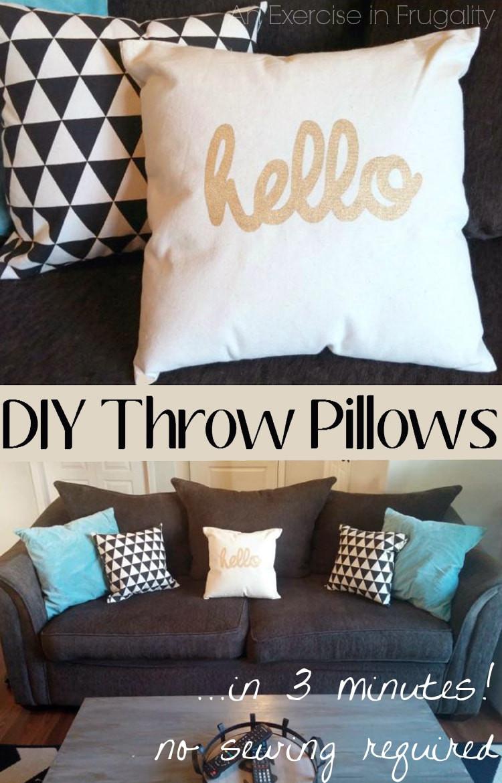 Best ideas about DIY Throw Pillows . Save or Pin DIY No Sew Throw Pillows Now.