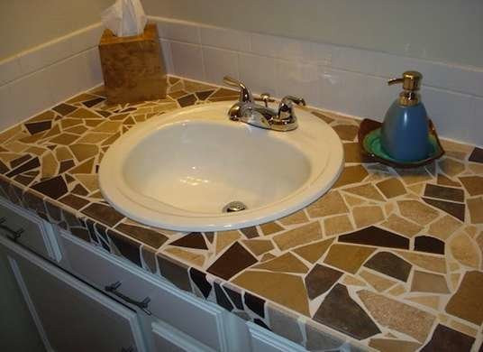 Best ideas about DIY Tile Countertops . Save or Pin Mosaic Countertops DIY Countertops 8 Ideas to Steal Now.