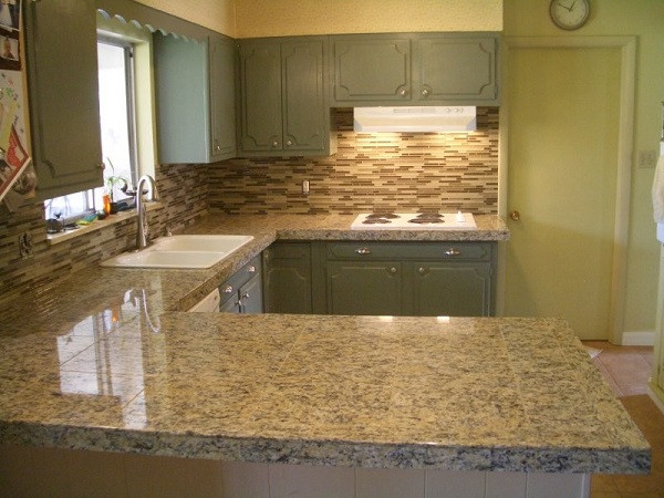 Best ideas about DIY Tile Countertops . Save or Pin DIY granite countertops – granite slabs vs granite tile Now.