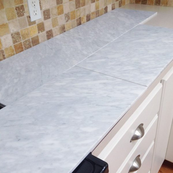 Best ideas about DIY Tile Countertops . Save or Pin Remodelaholic Now.