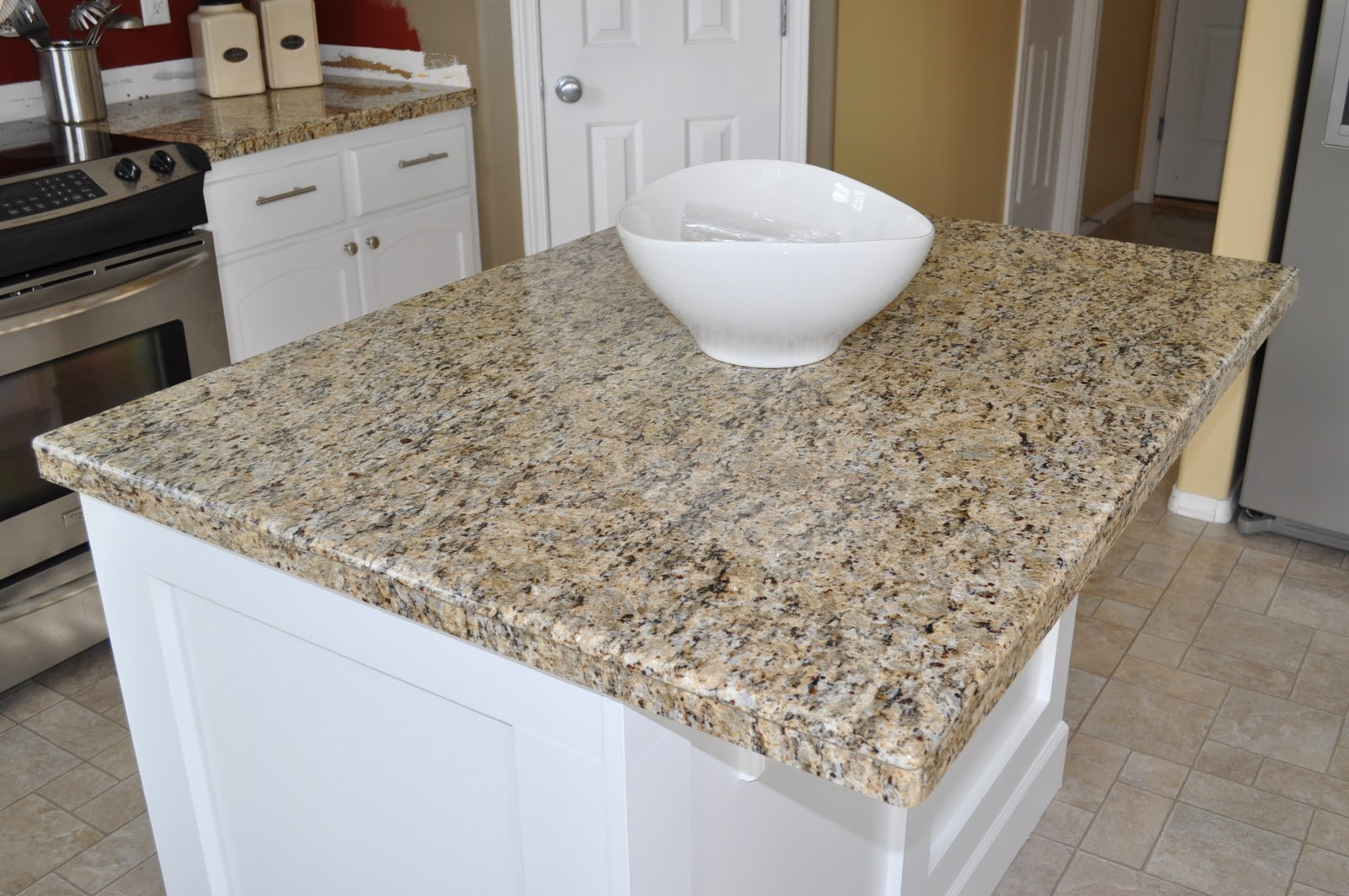 Best ideas about DIY Tile Countertops . Save or Pin The Dizzy House DIY Granite Mini Slabs Undermount Sink Now.