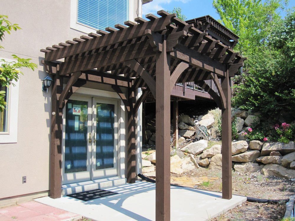 Best ideas about DIY Timber Frame Kit . Save or Pin Before & After DIY Timber Frame Pergola Kit Over Deck Now.