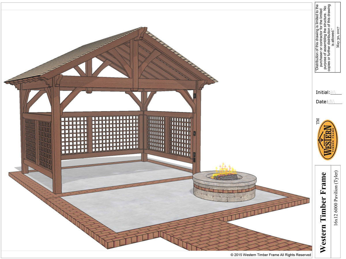 Best ideas about DIY Timber Frame Kit . Save or Pin DIY Pavilion Kit w Power & Lattices Now.