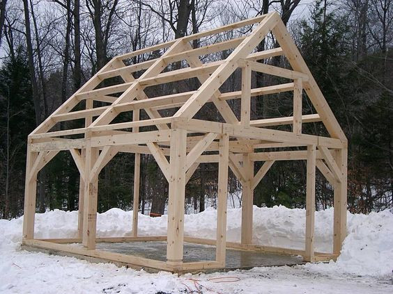 Best ideas about DIY Timber Frame Plans . Save or Pin Timber Frame Shed Things to Build Pinterest Now.