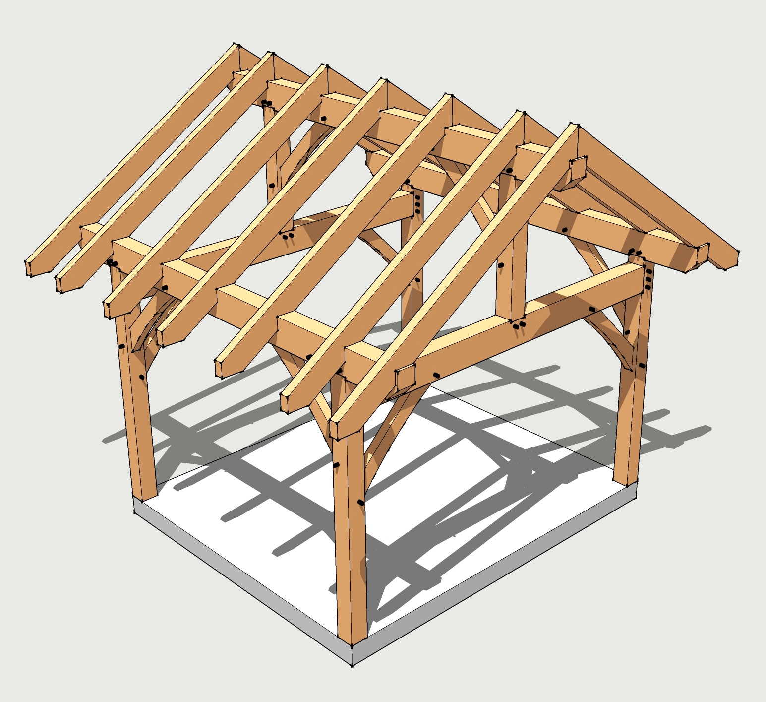 Best ideas about DIY Timber Frame Plans . Save or Pin 12x14 Timber Frame Plan Timber Frame HQ Now.