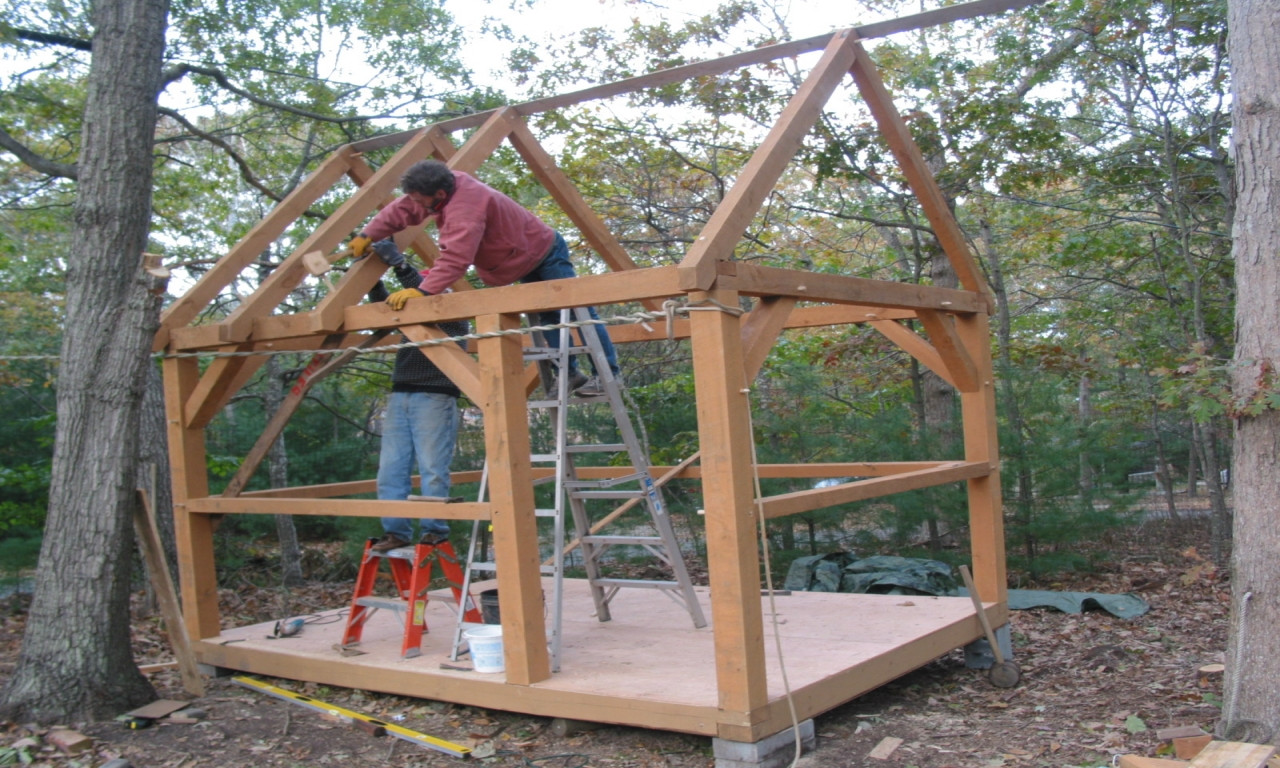 Best ideas about DIY Timber Frame Plans . Save or Pin Post and Beam Cabins Small Timber Frame Cabin Plans diy Now.