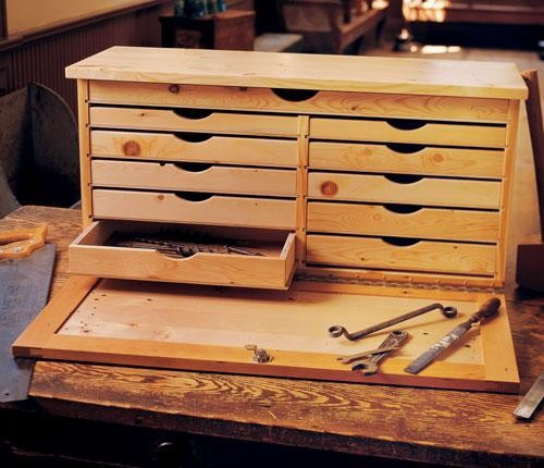 Best ideas about DIY Tool Chest Plans . Save or Pin DIY Wood Toolbox Plans PDF Download bench grinder stand Now.