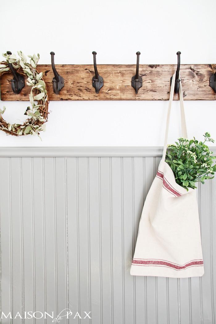 Best ideas about DIY Towel Rack . Save or Pin DIY Rustic Towel Rack Maison de Pax Now.