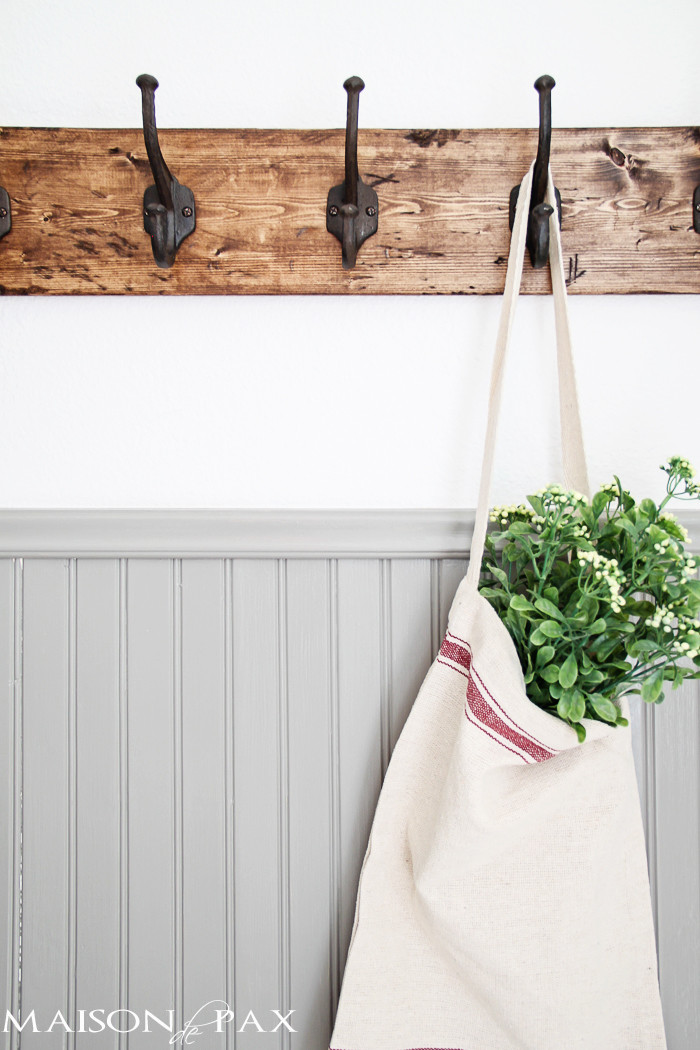 Best ideas about DIY Towel Rack . Save or Pin DIY Rustic Towel Rack Now.