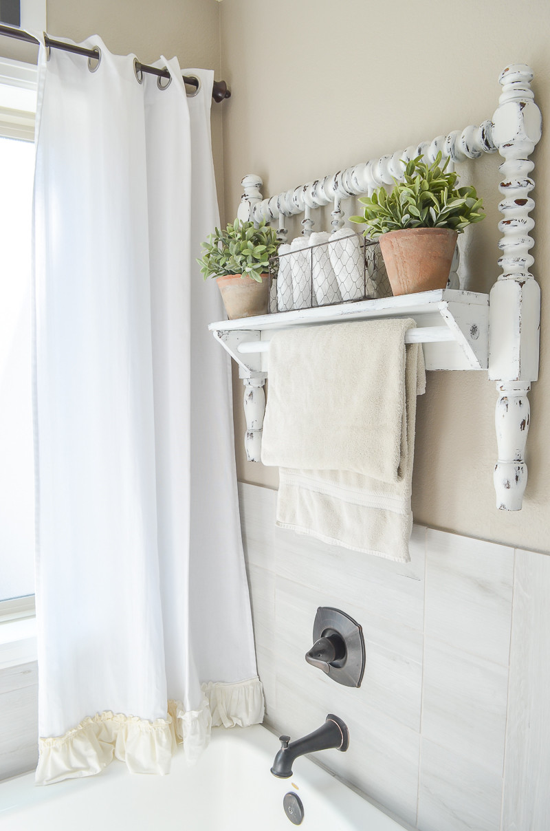Best ideas about DIY Towel Rack . Save or Pin DIY Towel Bar from Vintage Bed Frame Now.
