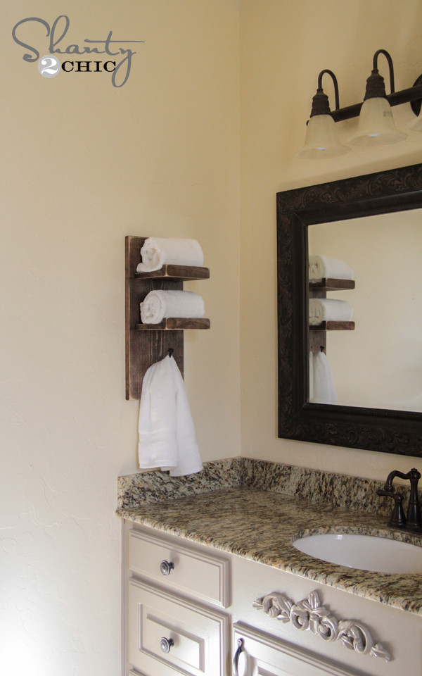 Best ideas about DIY Towel Rack . Save or Pin Super Cute DIY Towel Holder Shanty 2 Chic Now.