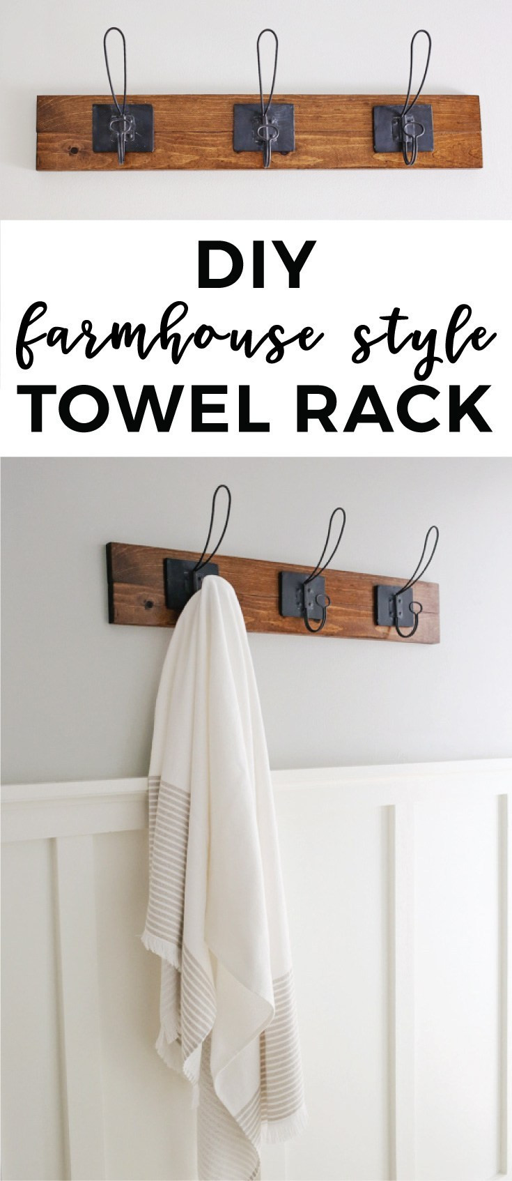 Best ideas about DIY Towel Rack . Save or Pin Farmhouse Style DIY Towel Rack Angela Marie Made Now.