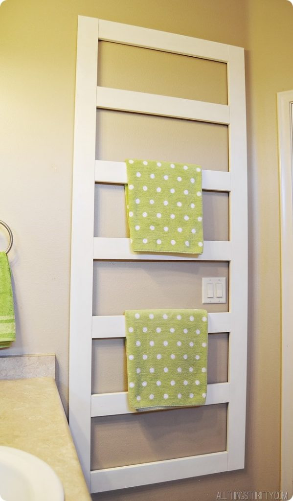 Best ideas about DIY Towel Rack . Save or Pin DIY Towel Rack and Manly help Now.