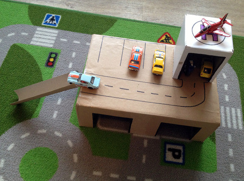 Best ideas about DIY Toy Car Garage . Save or Pin DIY Toy Garage – The Bear & The Fox Now.