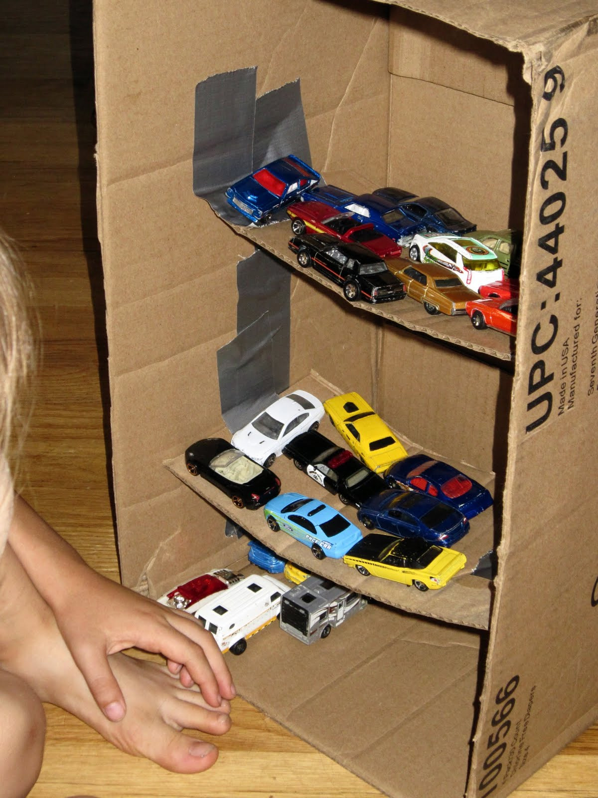 Best ideas about DIY Toy Car Garage . Save or Pin Homemade Toy Car Parking Garage Now.