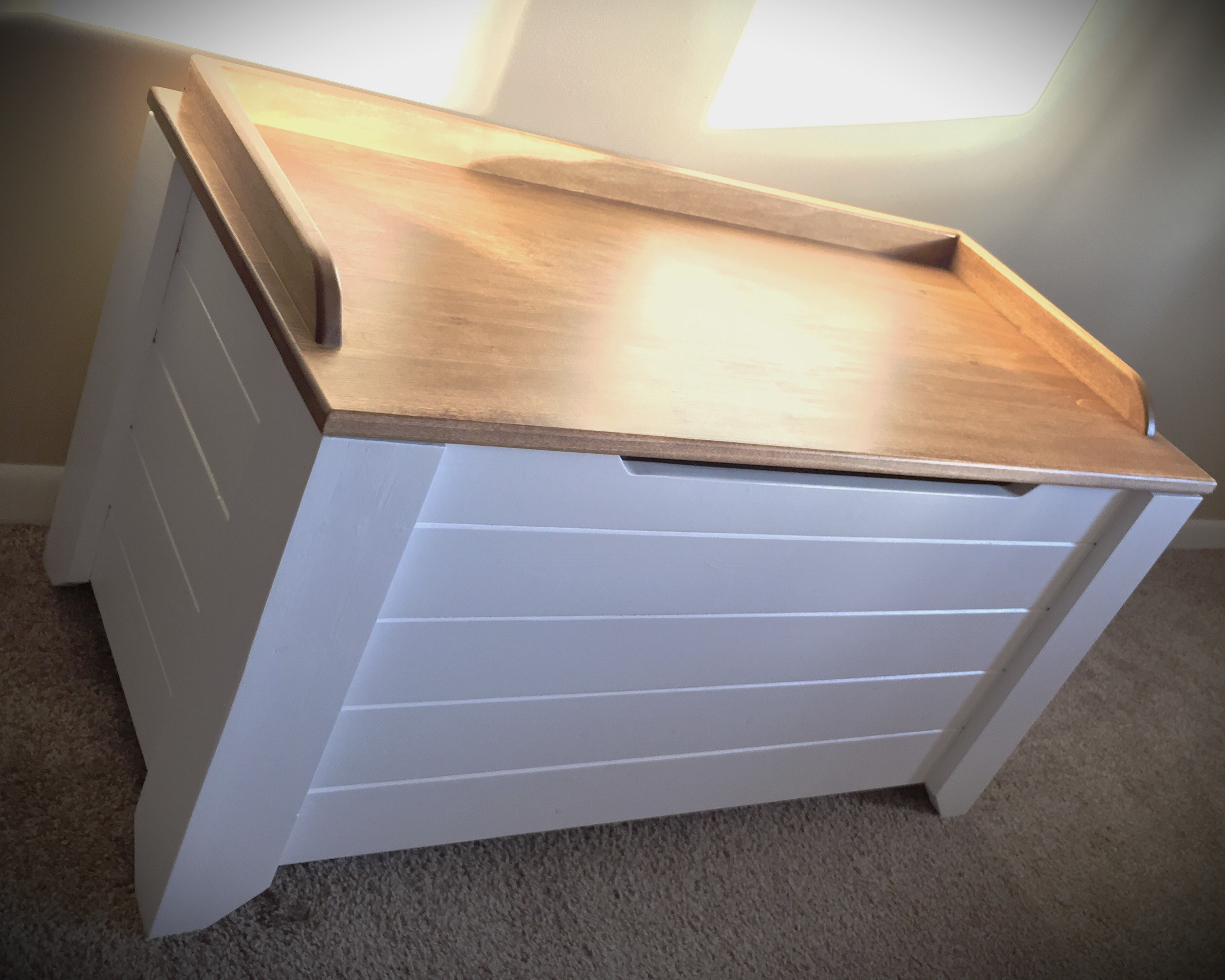 Best ideas about DIY Toy Chest Plans . Save or Pin Farmhouse Style Toy Box Blanket Chest Now.