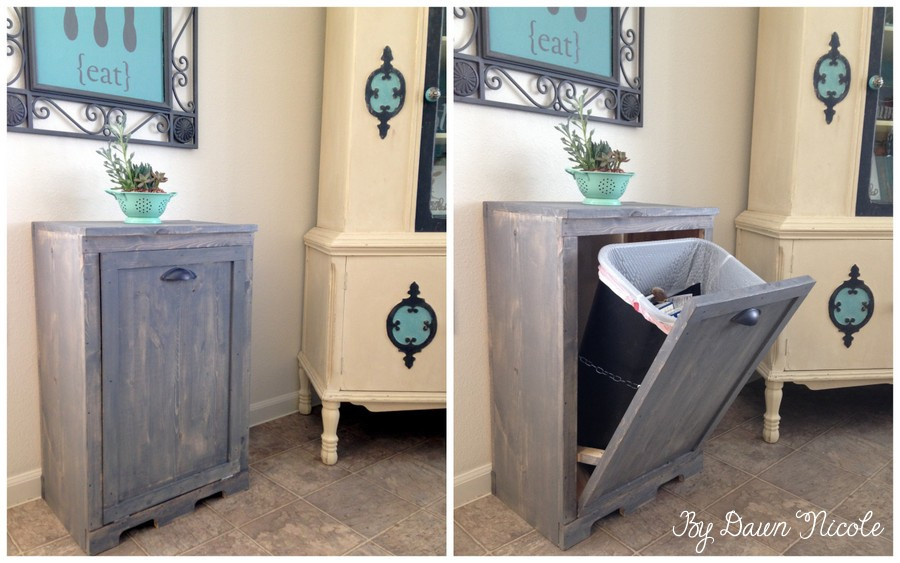 Best ideas about DIY Trash Can . Save or Pin DIY Wood Tilt Out Trash Can Cabinet J & N Roofing Now.