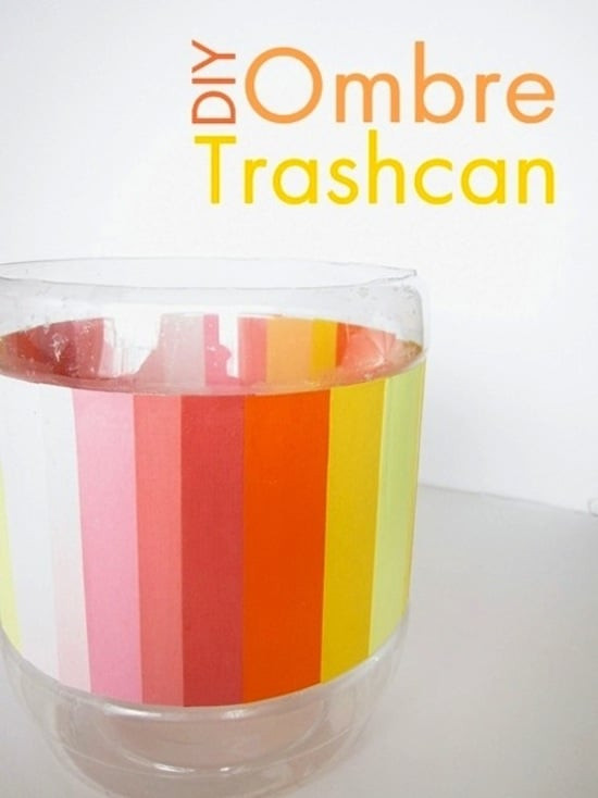 Best ideas about DIY Trash Can . Save or Pin Recycled ombre DIY trash can Mod Podge Rocks Now.