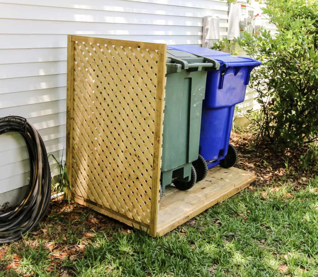 Best ideas about DIY Trash Can . Save or Pin Simple DIY Way to Hide Your Trash Cans Now.