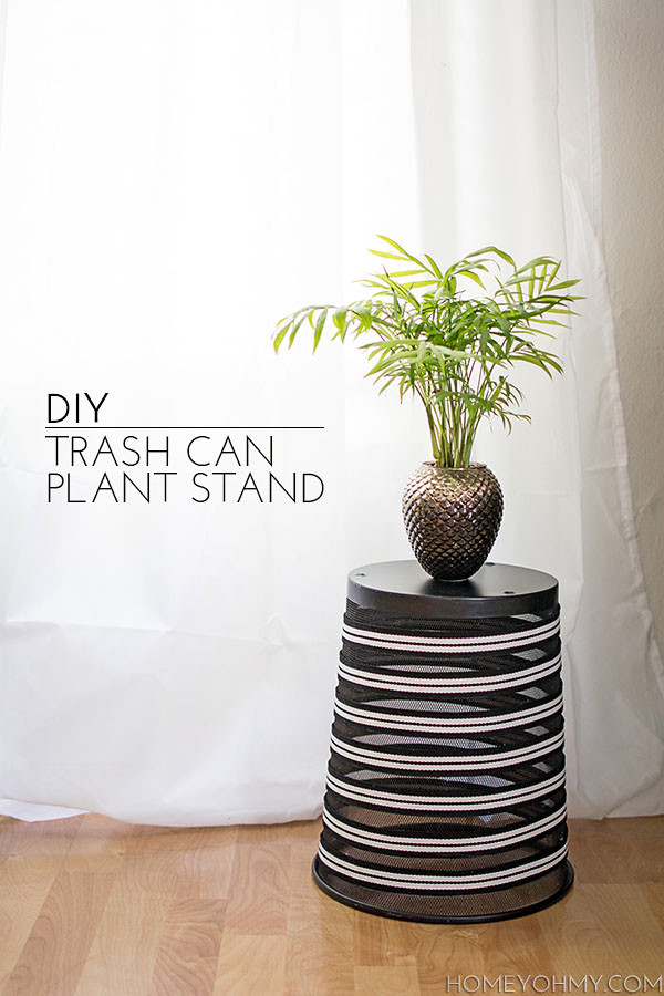 Best ideas about DIY Trash Can . Save or Pin DIY Trash Can Plant Stand Homey Oh My Now.