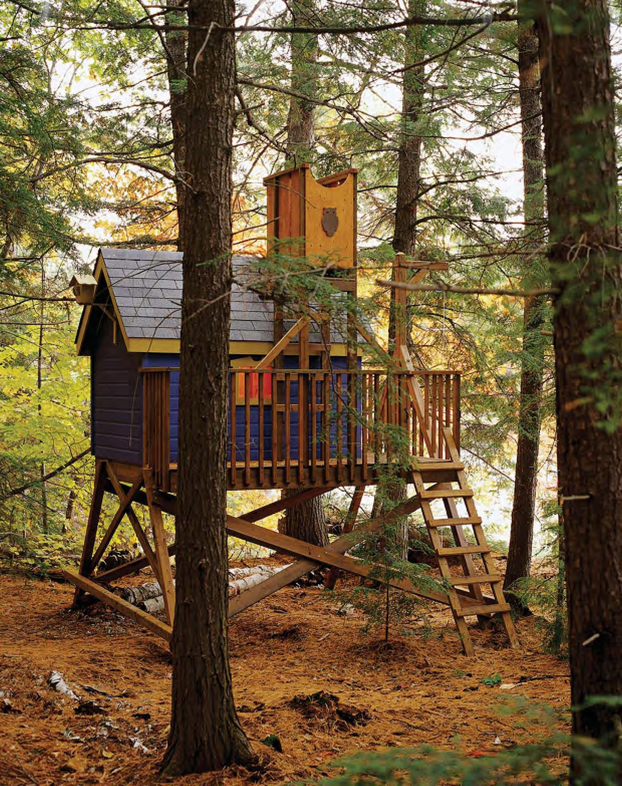 Best ideas about DIY Treehouse Plans Free . Save or Pin Free Deluxe Tree House Plans Now.